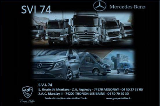 Mercedes-Benz SVI 74 vous accueille à Argonay et Thonon-les-Bains